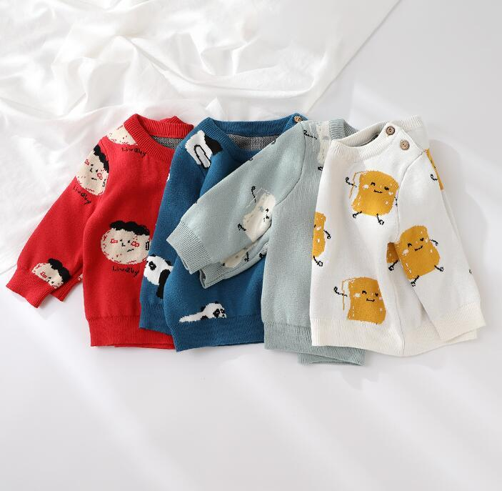 Bambino Bambini Maglione autunno inverno inverno manica lunga T-shirt Boy Girls Bambini Vestiti Cartoon Bambino Cappotto Cappotto Outwear Abbigliamento 0-5Y