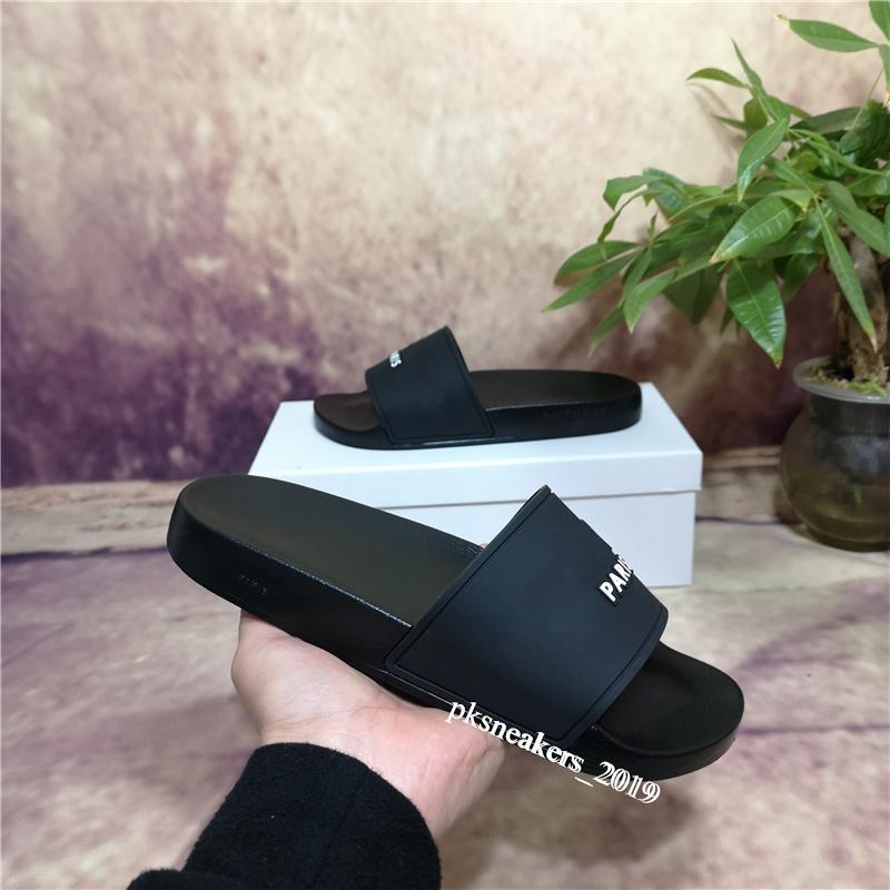 2021 Moda Slide Sandálias Chinelos para Homens Mulheres com Caixa Original Designer Hot Designer Unisex Beach Flip Flops Chinelo Melhor Qualidade