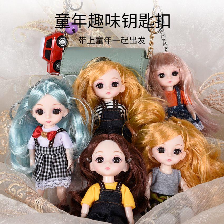 Barbie Student Schoolbag Key Chain Princess Cartoon Bag Pendant Children Doll Toy Gift 2GBK