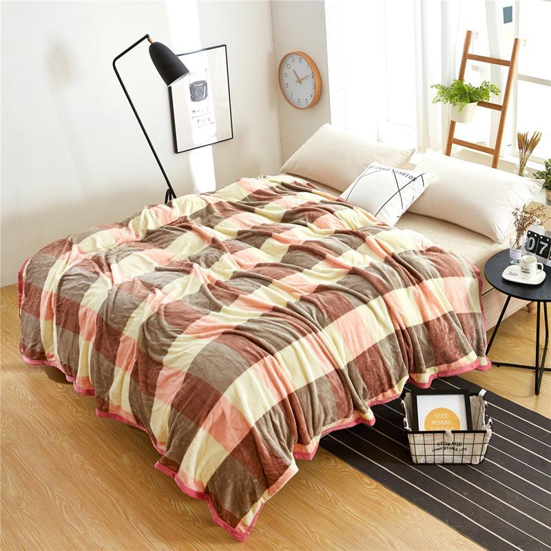 Теплый новый качественный уютный супер мягкий фланель простые постное покрытие ребенка Coberto кровать одеяло бросает мультфильм диван для флиса