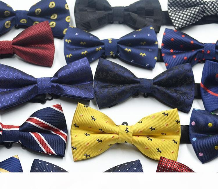 Neue Unisex Männer Frauen Bowties Sanfte Herren Krawatten Bogen Formale Krawatte Party Tuxedo Klassische Schmetterling Bowtie Polka Dot Streifen ZA1429