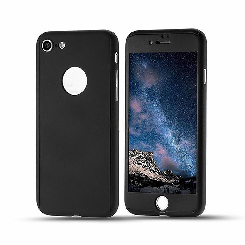 Protección de cobertura completa de 360 grados con vidrio templado Funda trasera para PC duro para iPhone 12 Mini 11 Pro MAX XS MAX XR X 8 PLUS 6S 7 PLUS
