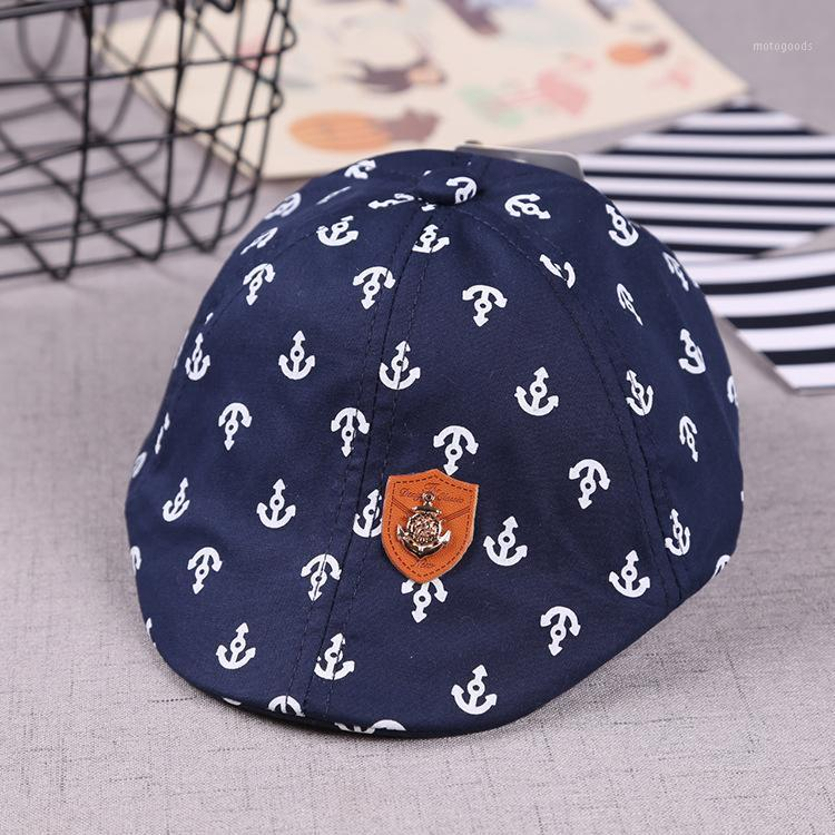 Berets Product Cotton Embroidery Anchor Multi-pattern Iron Labeling Children Beret Hat Autumn Boys And Girls Baby Cap1