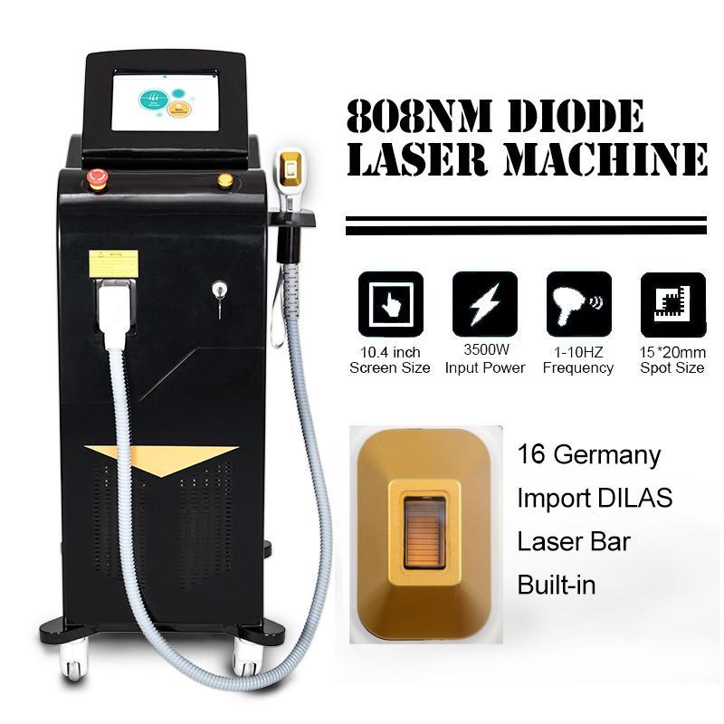 Новые 808NM диодные лазерные волосы удаление длины волны 808 нм воздух охлаждение безболезненного и быстрого удаления волос омоложение кожи