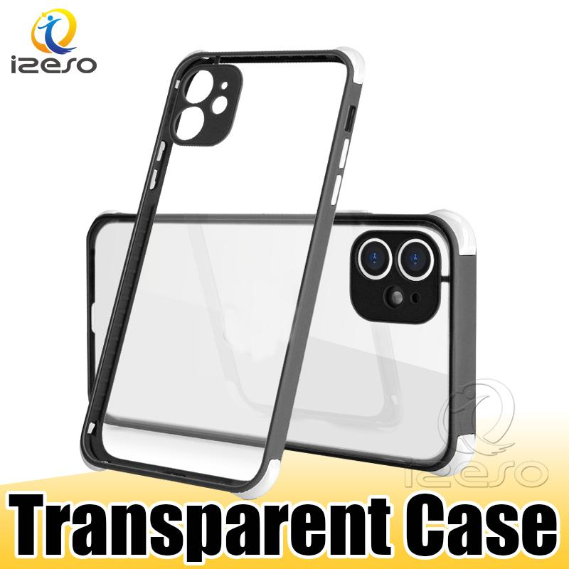 Shockproof Clear Shell Cover for iPhone 12 11 Pro Max XR Samsung S21 Ultra A21S A12 A72 Candy Edge Phone Back Case izeso