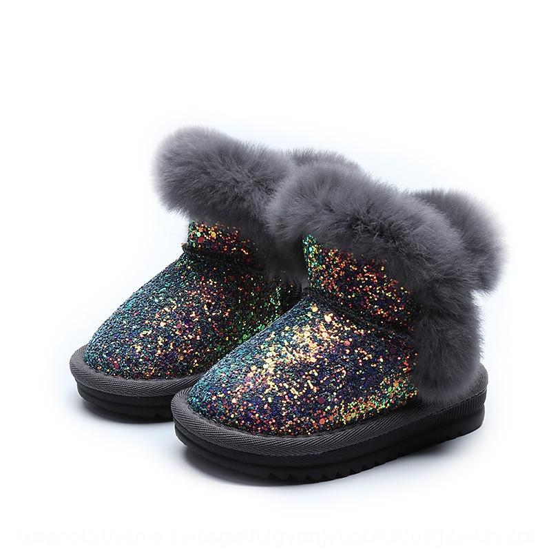 IUD2 Новая резина 201130 Весенние дети босиком обувь кожаные сапоги малыша дети девушки зимняя мода Tiempo и