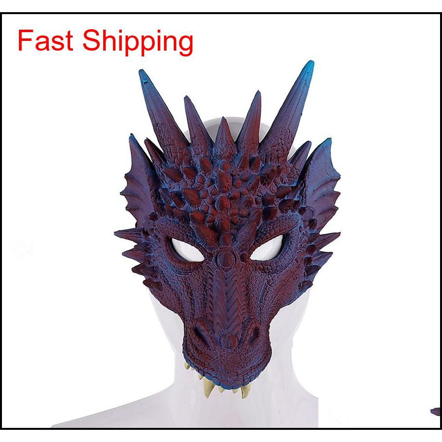 Fierce ejderha maskesi dinozor kafatası tüm yüz kafa maskeleri festivali dans partisi cosplay kostüm cadılar bayramı partisi qyldam homes2007