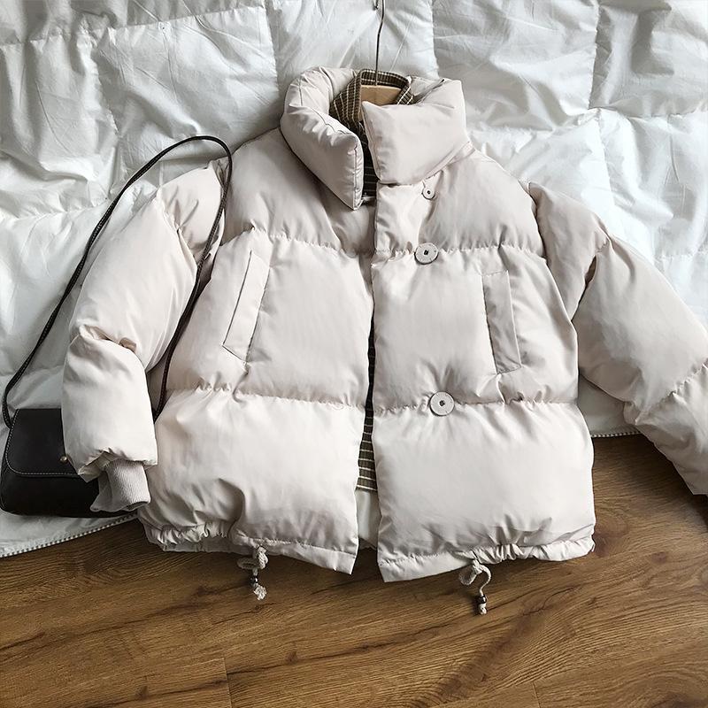 2019 addensare parka moda donne imbottita inverno cappotto invernale femminile stand down piumino caldo casual plus size cappotti