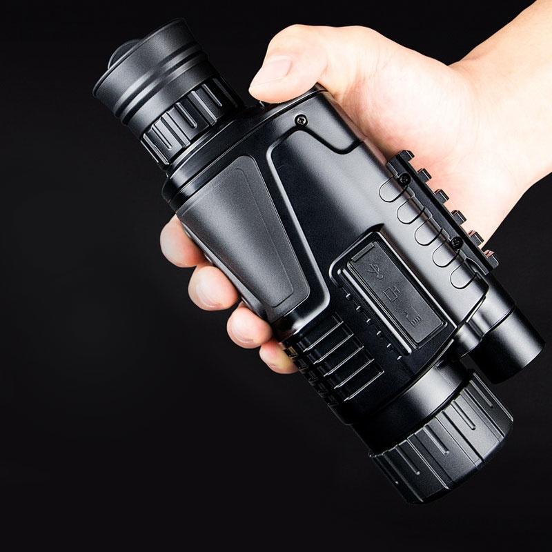 Chasse HD numérique infrarouge de vision nocturne télescope monoculaire 5x40 longue portée Équipement tactique portable Portée de haute qualité T191022