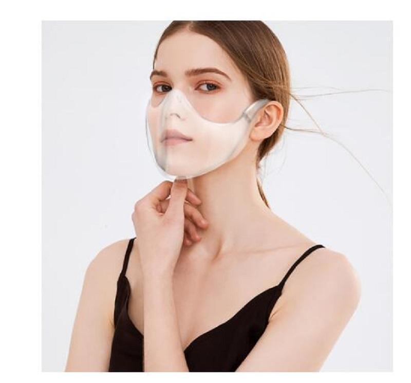 Быстрая доставка Máckare Máscara 2020 Прочная велосипедная маска для велосипеда Маска для лица Shield Комбинированная пластиковая многоразовая прозрачная прозрачная маска для лица повязка