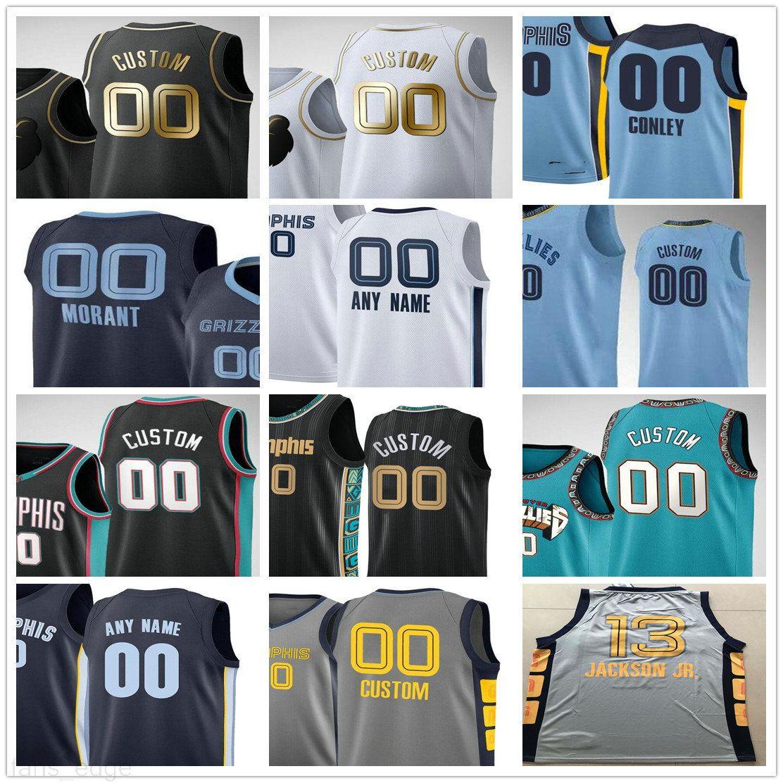 Custom Printed Ja 12 Morant Jaren 13 Jackson Jr. Jonas 17 Valanciunas Justise 7 Winslow Grayson 3 Allen Men Woman Kids Basketball Jerseys