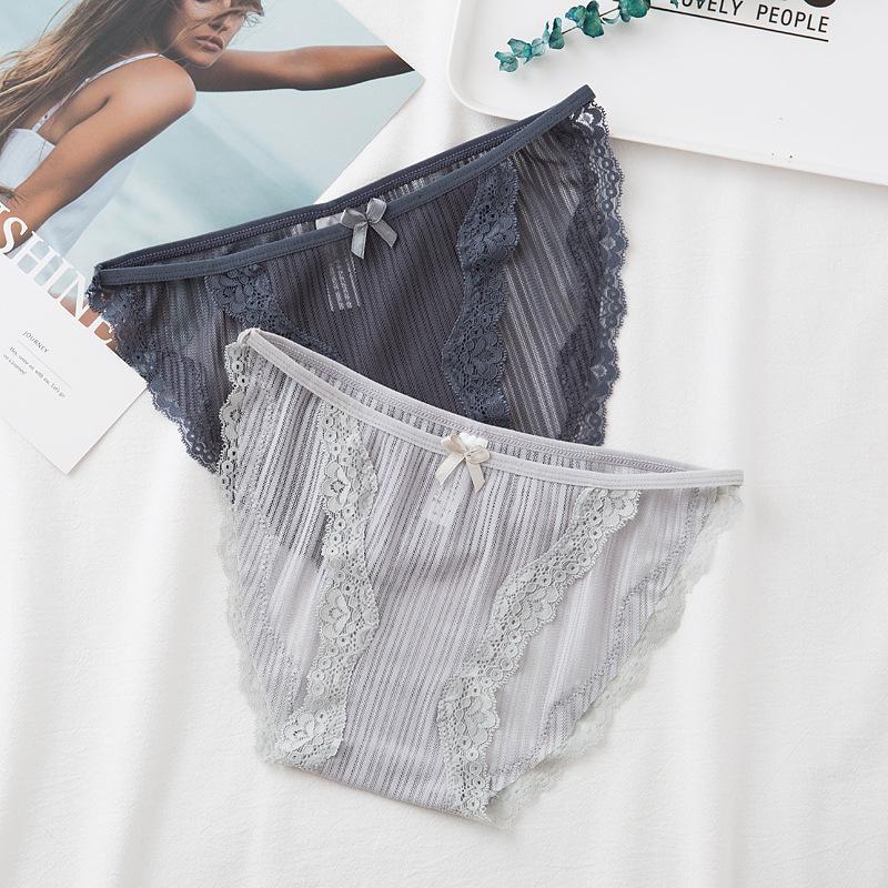 Salewomen's Comfortable Slip Massive Mode Slips Spitze Bogen Low-Taille Mädchen Unterwäsche Hautfreundlich Frauen Unterhose
