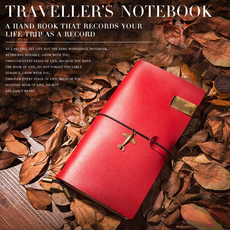 IPBEN Multifuncional Mais Novo Genuíno Design de Couro Traveler Notebook Vintage Estilo Conciso de Viagem Diário Diário Handmade Presente