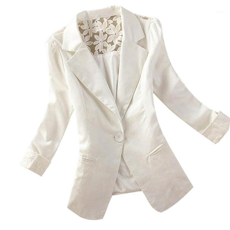 Mujeres Blazer Tops de manga larga Suelta Chaqueta Casual Ladies Oficina Desgaste Cardigan Traje Abrigo Blazers Mujer 20201