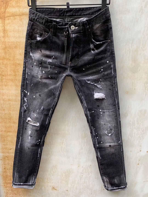 Großhandel- italienische luxus rose gestickte jeans 2019 neue designer männer jeans slim fit herren gedruckt jeans biker denim pants