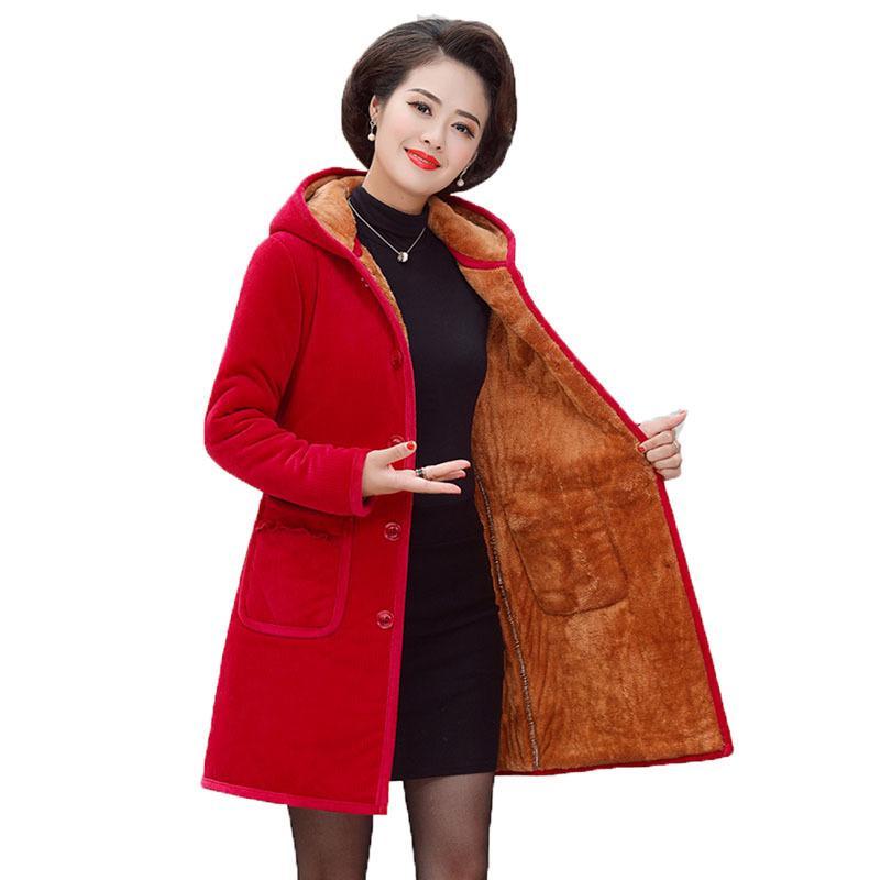 Parkas Coat Middle Occasion Femmes Vêtements Hiver Plus Taille 6xl Remboursé Chaud et Women's Long Howoat Vêtements d'extérieure Drs A151