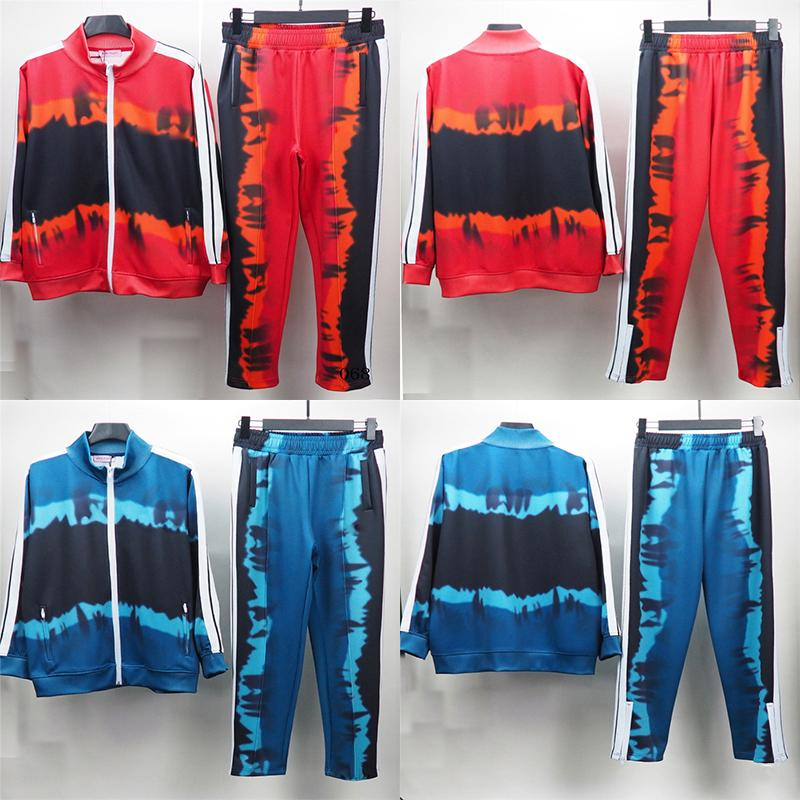 21SS Mens Womens Tracksuit Designer di Prestigio Uomo Felpe Felpe con cappuccio Giacca Donna Lussurys Abiti Rainbow Sportswear Ropa Ropa de Deporte Surtêtement Euro Taglia S-XL
