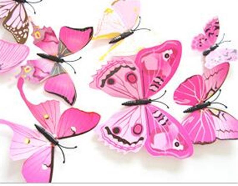 Papillon simulation réfrigérateur aimant 3D animal domestique couleur PVC sticker mural mariage cheveux cheveux accessoires accessoires broche neuf 1 6DJ m2