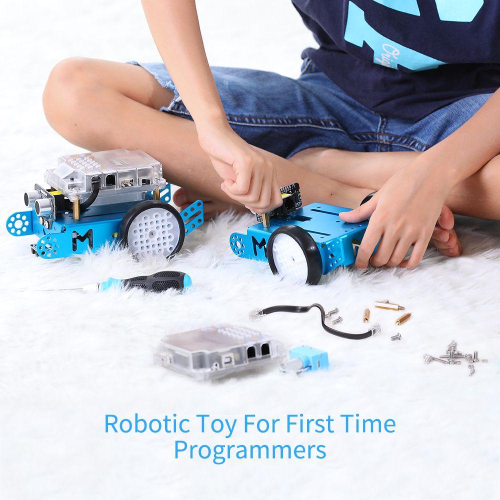 Mythblock MBOT DIY Robot Kit, Arduino, Программирование начального уровня для детей, Стем Образование. (Синяя, Bluetooth версия) 201218
