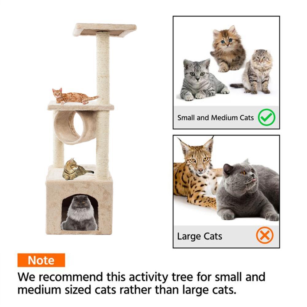 36 дюймов кошка дерево башня активности Центр большой игровой кондо-кошка дерево кровати мебель царапая башня котенок домашний дом бежевый американский