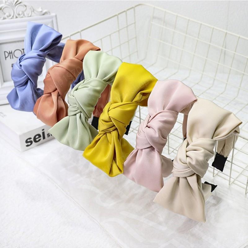Новая мода лук узла повязка повязку с женщинами свежие летние волосы элегантные аксессуары для волос для взрослых тюрбан оптом