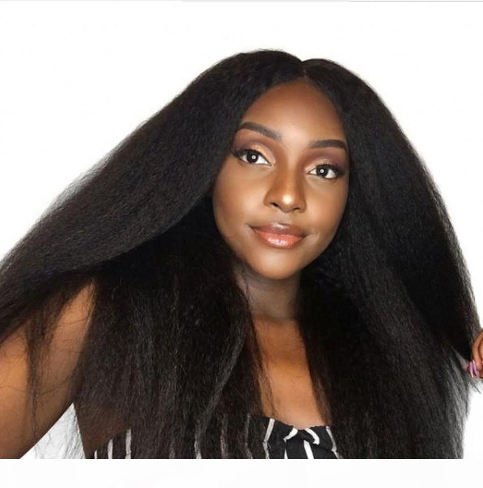 بيرو غريب مستقيم الدانتيل الجبهة الباروكات للنساء أسود طبيعي قبل التقطه متوسطة الحجم الدانتيل السويسري كاب كامل الدنتلة