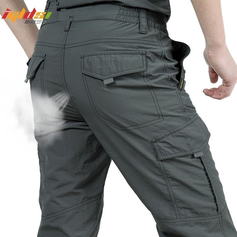Pantalon décontracté imperméable d'imperméable respirant à l'imperméable Secure Pantalon Long Pantalon Military Pantalon tactique Homme M-4XL 201118
