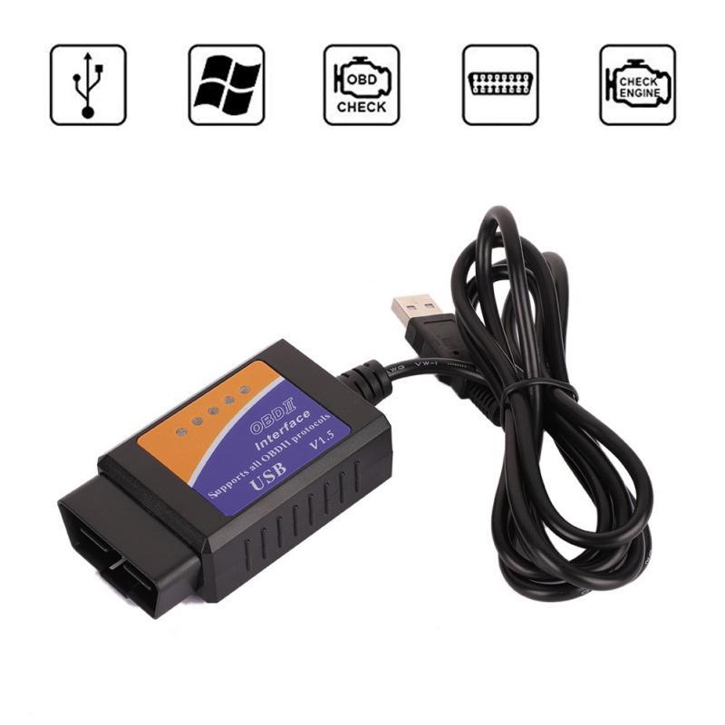 뜨거운 판매 ELM327 USB 스캐너 진단 도구 ELM327 OBD2 지원 대부분의 OBDII 프로토콜 ELM327 USB OBD 코드 판독기 스캔 도구 인터페이스