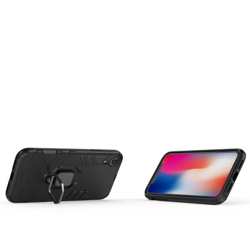 2 en la caja del teléfono de la armadura a prueba de manos a prueba de manos a prueba de manos para iPhone XR Silicone Back Thebel Funda