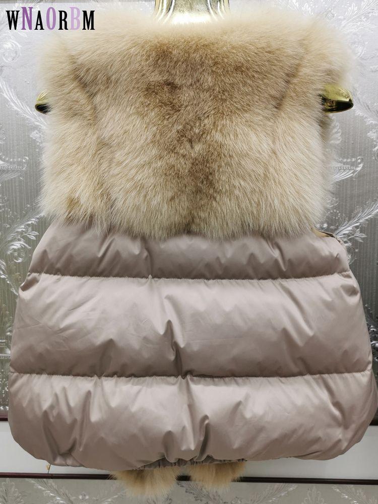 Fur Fox 2020 e para baixo novo colete moda real raposa pele atacado natural raposa jaqueta de couro colete casaco de pele real das mulheres