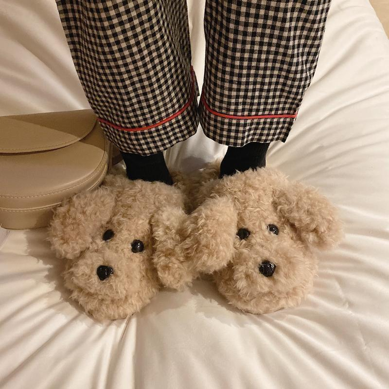 Women Winter Home Slippers Animal Cute Cartoon Shoes Soft Winter Warm House Slippers Comfort Indoor Bedroom Plush1