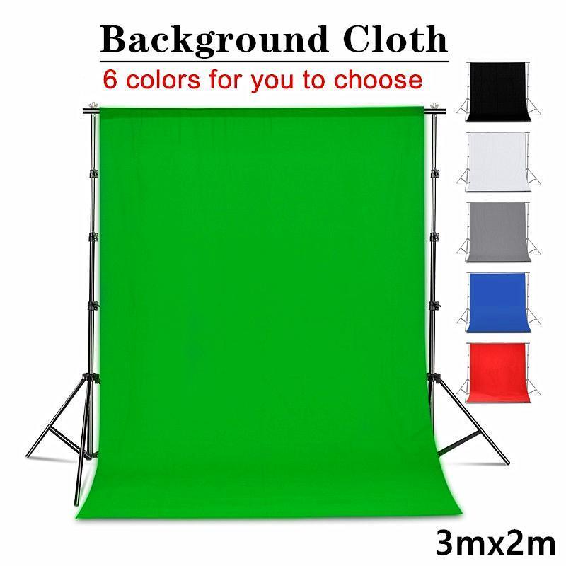 3m * 2m Green Screen Chroma-Key-Hintergrund Photo Studio Solid Color Muslin Fotografie-Hintergrund (Does nicht Bracket enthalten)