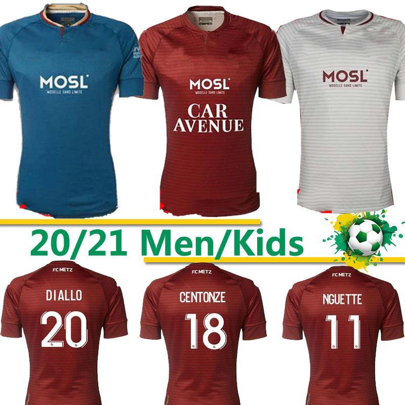 FC Metz Soccer Jerseys Diallo 20 Centonze 18 Vagner 27 Niane 7 Fofana 6 Home 2020 2021 Jersey Football Shirts تايلاند 20 21