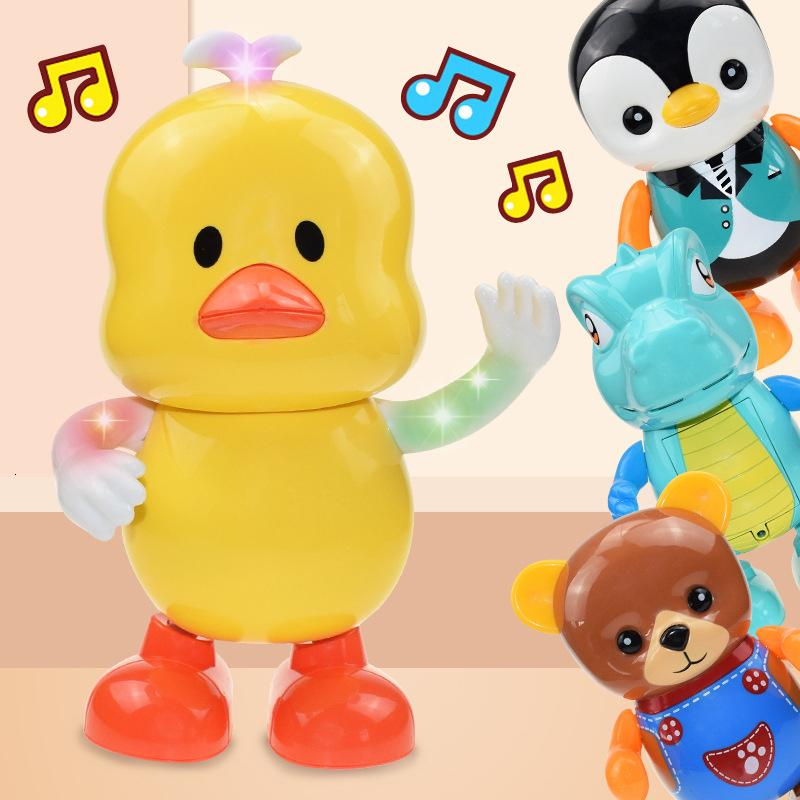 Sevimli Ördek Müzik Robot Parlak Eğitici Oyuncaklar Elektronik Yürüyüş Dans Akıllı Müzik Robot Çocuk Müzik Robot Oyuncak İçin Çocuk Hediyeleri