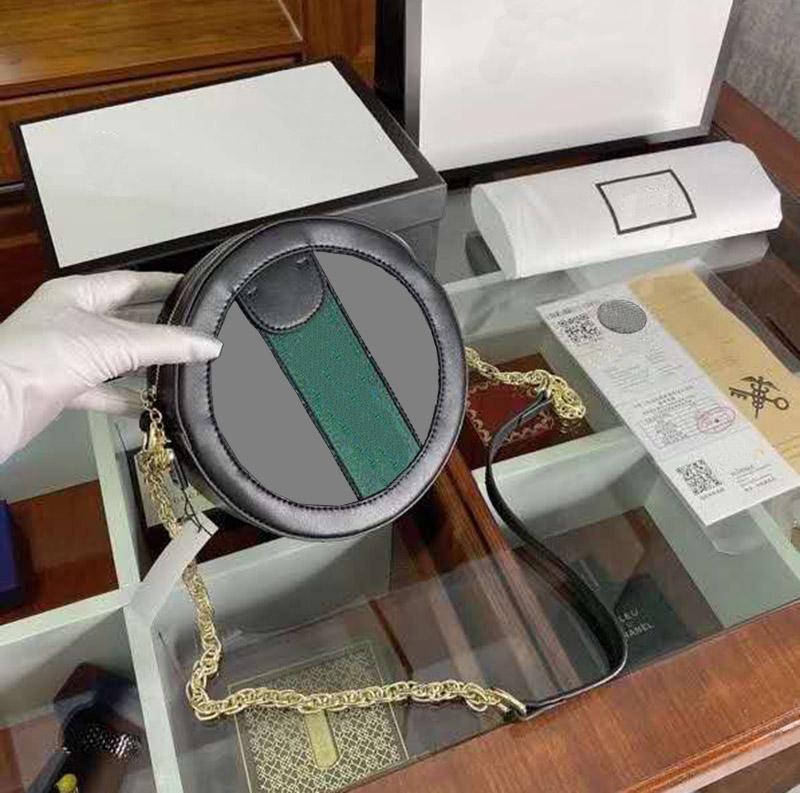 Sac de messagerie ronde de luxe de luxe Premium Sac à bandoulière en cuir de haute qualité Marron imprimé Porte-monnaie simple et généreuse