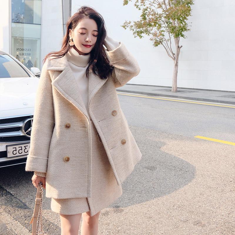 Frauen Herbstabzug Faux Wolle Solide Mode Koreanische Wintermantel Weibliche Warme Frauen Grundlegende Femme Dicke Kap Cloak