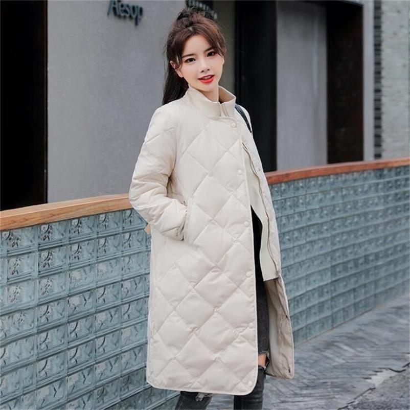Зимняя куртка Женщины плюс размер 3xL повседневная длинное пальто зимняя женщина вниз хлопок мягкие парки бандаж женская куртка пальто 201214