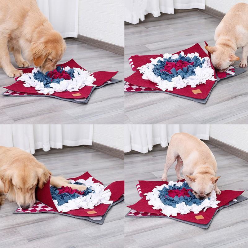 Haustierhund Schnüffeln Trainingsdecke Abnehmbare Fleece-Pads Hundematte Linderung Stress Nosework Puzzle Spielzeug Haustiernase Pad-1