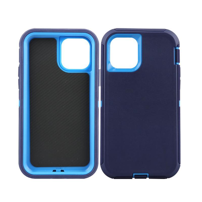 Caja de la armadura del defensor PC TPU Funda protectora para iPhone12 Mini 11 Pro Max 8plus 7 Caja híbrida anti-shock de doble capa