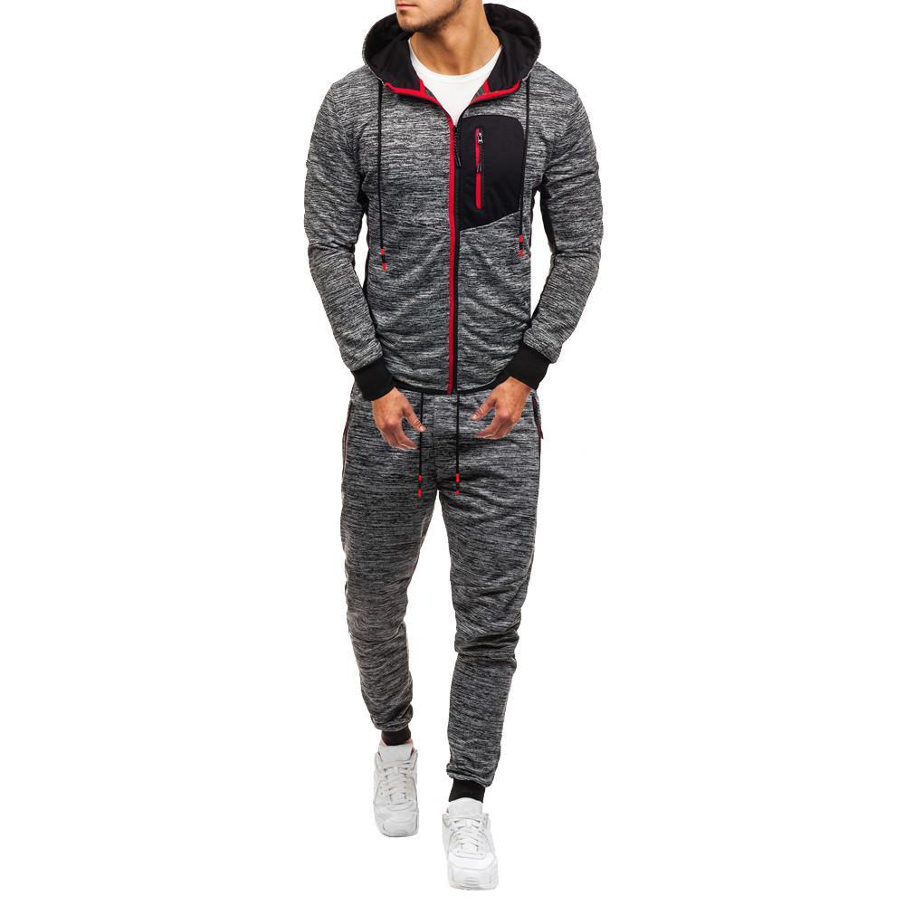 2019 uomini sportivi moda uomo autunno autunno inverno felpa patchwork top pantaloni sportivi tuta sportiva tracksuit set set