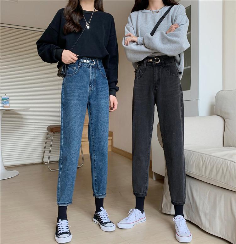 Pantalon de denim ample de l'automne et l'hiver