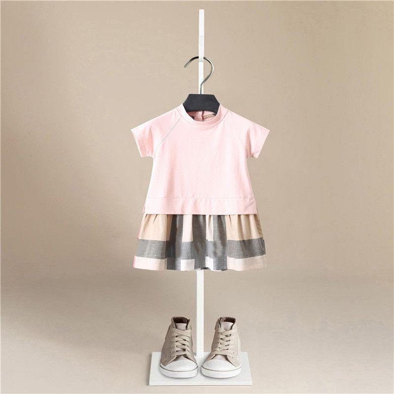 Girl Dress 2019 New Baby Dresses Stripe Summer Short Sleeve Princess Dress Female Baby Summer Clothes Kids Girl Clothes F1130