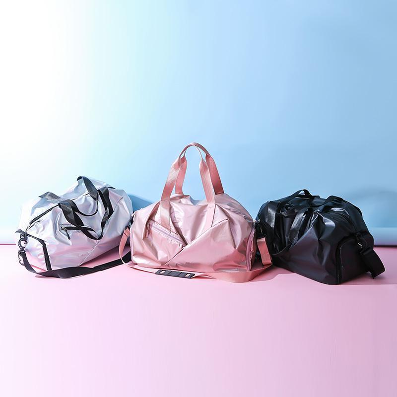 2021 À Prova D 'Água Sacos de Viagem Luz Cor Moda Conveniente Grande Capacidade Saco de Viagem Sala De Bagagem Bolsa De Fitness Pink Pink Cool Bags