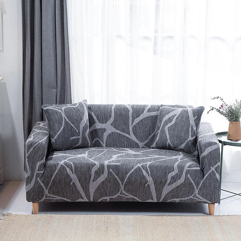Couvercle de canapé élastique moderne Housmife pour salon Sectionnel Sofa Sofa Slipcover Chaise Protecteur Couverture du canapé 1/2/3/4 places 201119