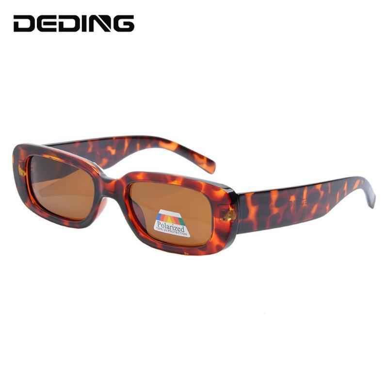 Retro Marke Polarized DD1501 Vintage Brillen Rechteck für Sonnenbrillen UV400 Mode Sonnenbrille Frauen WCITK