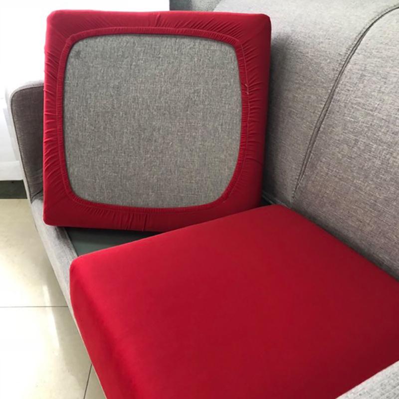 11 Farben Universal Günstige Sofa Kissenbezüge Stretch Ice Seide Möbel Beschützer für Sofa Stuhl Sitzkissen 1/2/3/4 Sitzer Y1228