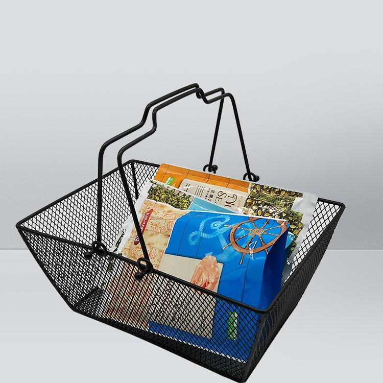 Black Powder Coated Bookery Bastket для косметики магазин проволочной сетки игрушечная корзина с металлическими ручками Детский Моисей Корзины для подарков Корзина для белья