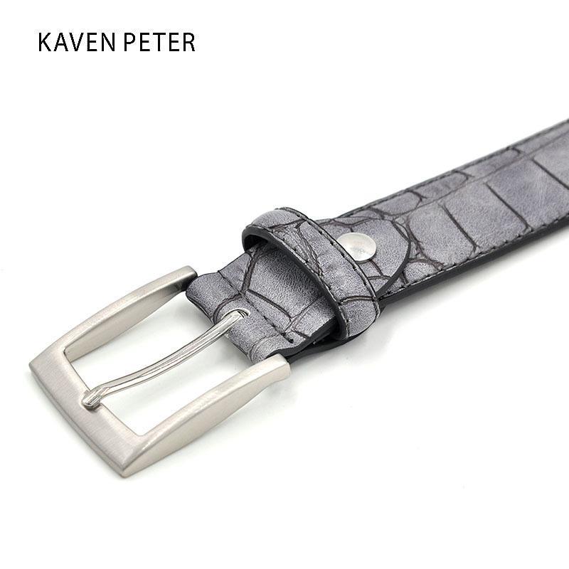 Moda de moda cinturones de cintura de cintura Faux Patrón de cocodrilo con cuero dividido Cinturón de diseño de lujo de lujo Accesorios Fábrica Precio fábrica 201117