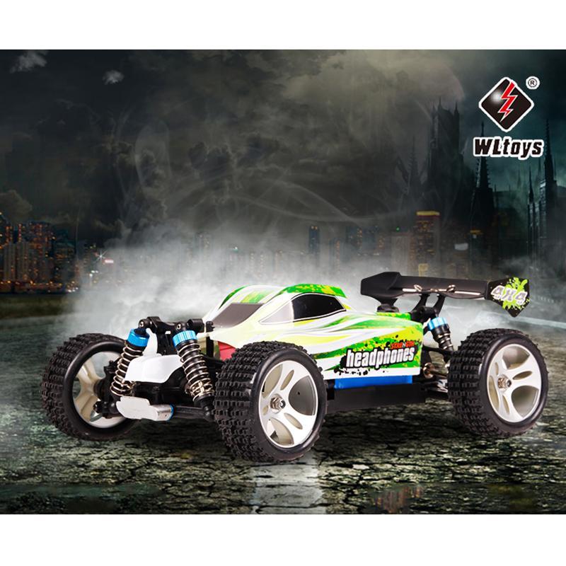 70 км / ч RC Автомобиль WLTOYS A959 A959-B 2.4G 1/18 Шкала Пульт дистанционного управления Off-Road Racing Автомобиль Высокоскоростной трюк SUV Toy Gift RC Mini Car 201218