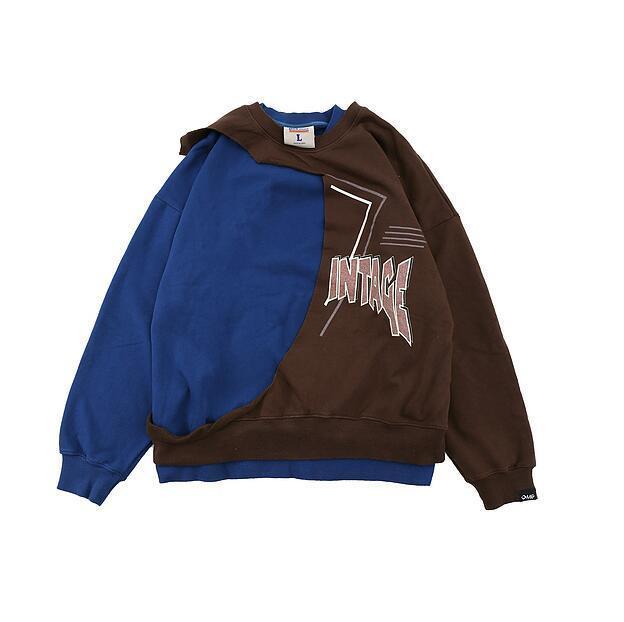 2021 lettre d'hiver Imprimer Patchwork Pullwork Hommes Femmes Couple Couple 100% coton Sweatshirts Hip-Hop High Street Street Crewneck
